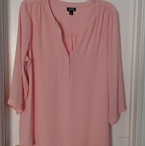 a.n.a pink blouse 3/4 sleeves